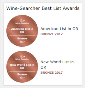 wine searcher awards